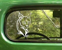 2 LYNX CAT DECAL Stickers For Car Window Truck Bumper Laptop jeep RV