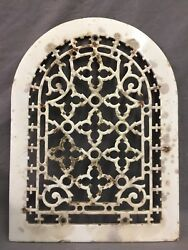 One Porcelain Antique Arched Top Heat Grate Grill Gothic Wall Arch 10x13 47-19d