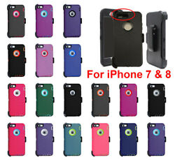 For Iphone 7 And 8 Shockproof Case Cover Defender With Belt Clip Fits Otterbox
