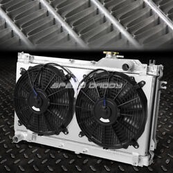 2-row Performance Radiator Replacement+cooling Fan For 90-97 Mazda Miata Mx-5 Na