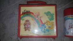 1983 Vintage Care Bears Lunchbox With Thermos By Aladdin Very Hard To Find Both