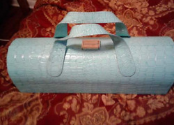 Clutch Wine Carrier amp; Purse Turquoise with Wine Opener $29.99