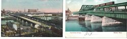 Massachusetts MA Charlestown Bridge Boston Postcards Set of 2