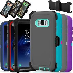 For Samsung Galaxy S8+ Plus Rugged Case Cover Fits Otterbox Defender Belt Clip