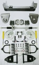 1936-1948 Chevy Car Mustang Ii Manual Front End Suspension Kit Stock Slotted