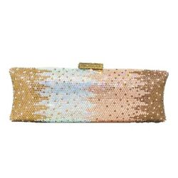 Multi Champagne Women Crystal Bag Evening Purse Metal Minaudiere Clutches