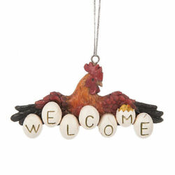 Midwest CBK Resin Farmhouse Chicken Welcome Ornament