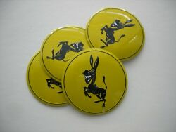 Donkey Wheel Center Cap Emblems Aluminum Stickers Decal Coned 2 3/16