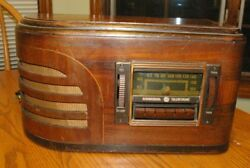 Rare Great Northern Railroad Art Deco Ge Wood Radio Business Car A-20 Butte Div