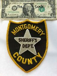 Montgomery County Sheriff Mississippi Police Patch Un-sewn Old Hard To Find