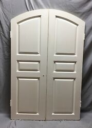 Antique Pair Arched Dome Top Wood Doors 20x61 Old Vintage 64-19c