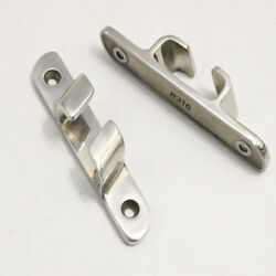 2pcs 316 Ss 4-1/2 Cleat Line Stainless Steel Straight Bow Chock Boat Marine