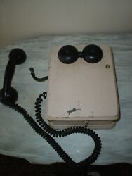 Vintage Military Kellogg Switchboard&Supply 1944 Oak Wall Telephone 5812 MX-VGC
