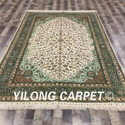 YILONG 6'x9' Handmade Silk Persian Home Rug Handicraft Oriental Carpet CJ21A