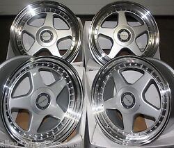 18 Silver Dr-f5 Alloy Wheels Fits Bmw 36 + Tyres 225/40/18 Front 255/35/18