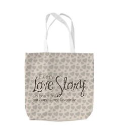 EVERY LOVE STORY QUOTE DESIGN TOTE BAG SHOPPING VALENTINES DAY GIFT