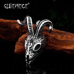 316l Stainless Steel Norse Vikings Pendant Necklace Norse Sheep Head Original