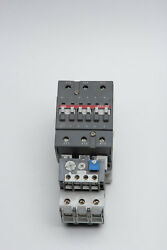 Used Abb Contactor A63-30 Coil 120v With Abb Ta75 Du Overload Relay