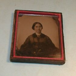 1800's Tintype of Lady in Half of Frame