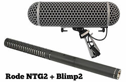 RODE NTG-2 and BLIMP BLIMP2 Condenser Shotgun Microphone Package NTG2 IN BOX!