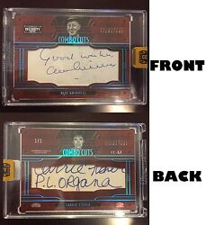 Donruss Celebrity Cuts Alec Guinness Carrie Fisher Dual Cut Auto Star Wars 1/1
