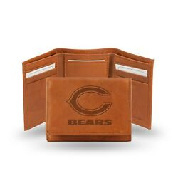 Chicago Bears TRIFOLD STANDARD Authentic Embossed Leather Wallet NWT