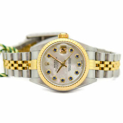 Rolex Lady Datejust Gold Steel Mother of Pearl Sapphire 79173 Jubilee  WATCH CHE