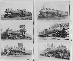 8 1930and039s Rock Island Railroad Steam Engine 4-4-2 Photos 16th Wye St. Chicago Il