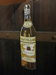 Castillon Brandy Sign Castillon Brandy Enamel Sign Cognac Enamel Sign Vintage
