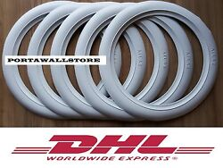 Atlas White Wall Portawall Inserts Trims Fitsr16 Tires Set Of5 Free P/h. 516