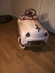 Murray Champion Pink Pedal Car by Gearbox is all Original and Unrestored