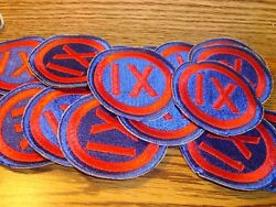 20 Twenty Vintage 1944 Wwii Ix 9th Army Corps Embroidered Shoulder Sleeve Patch