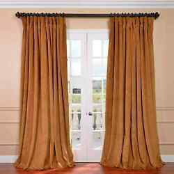 Extra Wide Blackout Velvet Curtains Sold Per Panel