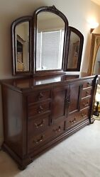 Bedroom Dresser With Mirror American Signature Dovetail Hard Wood