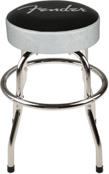 Fender Black and Silver Sparkle 24 Inch Barstool wPadded Seat #0993001000 - NEW