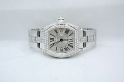 LADIES CARTIER ROADSTER STAINLESS STEEL DIAMOND ENCRUSTED WATCH W62016V3