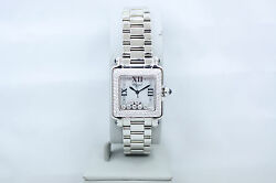 CHOPARD HAPPY SPORT SQUARE STAINLESS FACTORY DIAMOND ENCRUSTED WATCH 278358-2004
