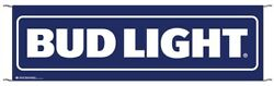 Bud Light 10' X 3' Large Event Banner Sign Beer - Poly Banner With Hem And Ropes