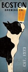 FINE-ART-PRINT-Boston-Terrier-Brewing-Co-Panel-Poster-Paper-or-Canvas-for-home-d