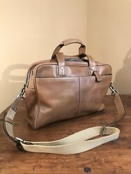 COACH Men's ATTACHE BRIEFCASE Messenger Crossbody Bag 05A05 Brown Very Clean