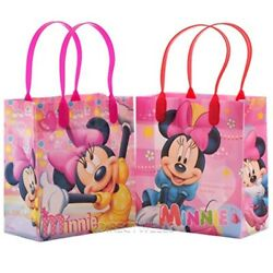 Disney Minnie Mouse Reusable Premium Party Favor Goodie Small Gift Bags 12 (12