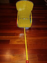 Antique Vintage J. Chein And Co. Tin Lithograph Doll Pull Cart Chair 1950's