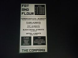 THE LIBRARIANS Screen Used TV Prop FAT AND FLOUR MENU SIGN POSTER Episode 412