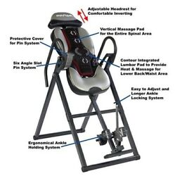 Back Pain Heat Massage Inversion Table Chiropractic Fitness Equipment Home gyms