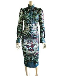 Yves Saint Laurent Tom Ford 2004 Two Piece Dress China Through The Looking Glass
