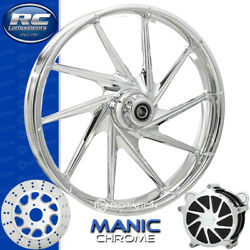 Rc Components Manic Chrome Custom Motorcycle Wheel Harley Touring Bagger 21