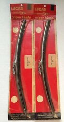 BRISTOL 411 FACTORY WINDSHIELD WINDSCREEN WIPER BLADE SET LUCAS 54700976 NOS