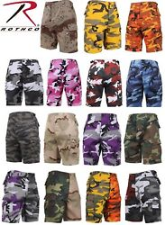 Army BDU Cargo Shorts Button Fly Camouflage Military Rothco Combat Shorts $25.99