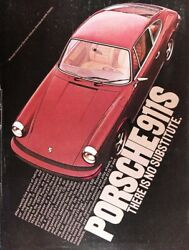 1975 PORSCHE 911 S Genuine Vintage Ad ~ THERE IS NO SUBSTITUTE