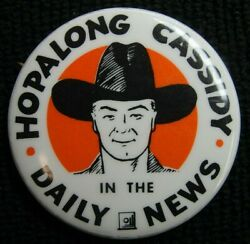 Vintage Hopalong Cassidy In The Daily News Pin Dd0768-dd0769